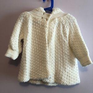 Anastasia white knit hooded bolero cardigan